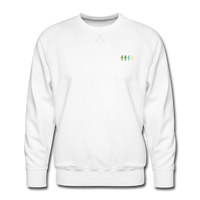 """United We Stand"" Men's Premium Sweatshirt (Front & Back) - white"