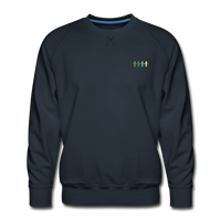 """United We Stand"" Men's Premium Sweatshirt (Front & Back) - navy"