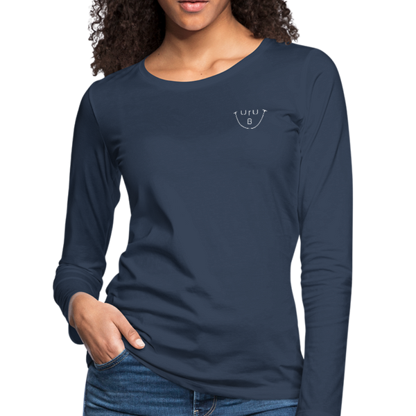 """URUBU""™ Women's Premium Long Sleeve T-Shirt - navy"