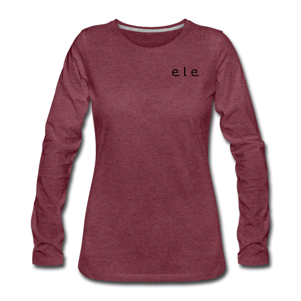 """everyone love everyone"" Women's Premium Long Sleeve T-Shirt - heather burgundy"