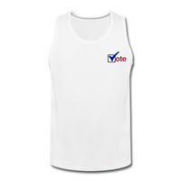 """Vote"" Men's Premium Tank - white"