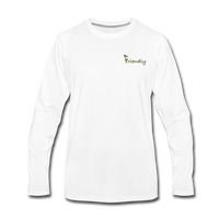 """Bee Friendly"" Men's Premium Long Sleeve T-Shirt - white"