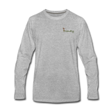 """Bee Friendly"" Men's Premium Long Sleeve T-Shirt - heather gray"