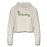 """Bee Friendly"" Women's Cropped Hoodie - dust"
