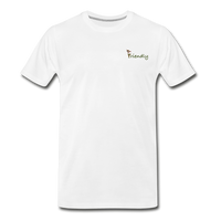 """Bee Friendly"" Men's Premium Organic T-Shirt - white"