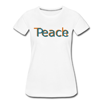 """Teach Peace""  Women's Premium T-Shirt - white"