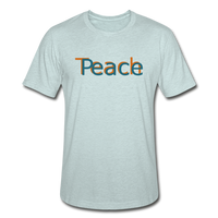 """Teach Peace"" Heather Prism T-Shirt - heather prism ice blue"