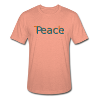 """Teach Peace"" Heather Prism T-Shirt - heather prism sunset"