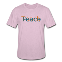 """Teach Peace"" Heather Prism T-Shirt - heather prism lilac"