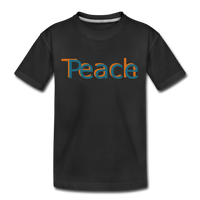"""Teach Peace"" Kids' Premium T-Shirt - black"