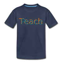 """Teach Peace"" Kids' Premium T-Shirt - navy"