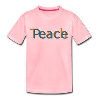 """Teach Peace"" Kids' Premium T-Shirt - pink"