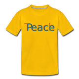 """Teach Peace"" Kids' Premium T-Shirt - sun yellow"