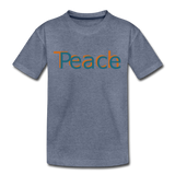 """Teach Peace"" Kids' Premium T-Shirt - heather blue"