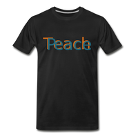 """Teach Peace"" Men's Premium Organic T-Shirt - black"