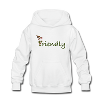 """Bee Friendly"" Kids' Hoodie - white"