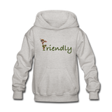 """Bee Friendly"" Kids' Hoodie - heather gray"