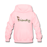 """Bee Friendly"" Kids' Hoodie - pink"