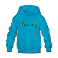 """Bee Friendly"" Kids' Hoodie - turquoise"