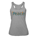"""Teach Peace"" Women's Racerback Tank - heather gray"