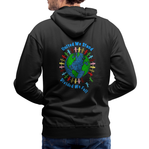 """United We Stand"" Men's Premium Hoodie (Front & Back) - black"