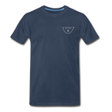 """URUBU""™ Men's Premium Organic T-Shirt (Front & Back) - navy"