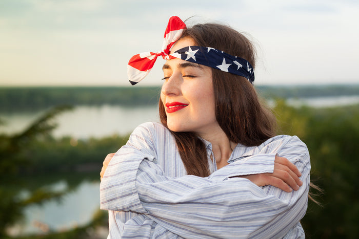 Star-Spangled Style: A DIY Red White & Blue Headband