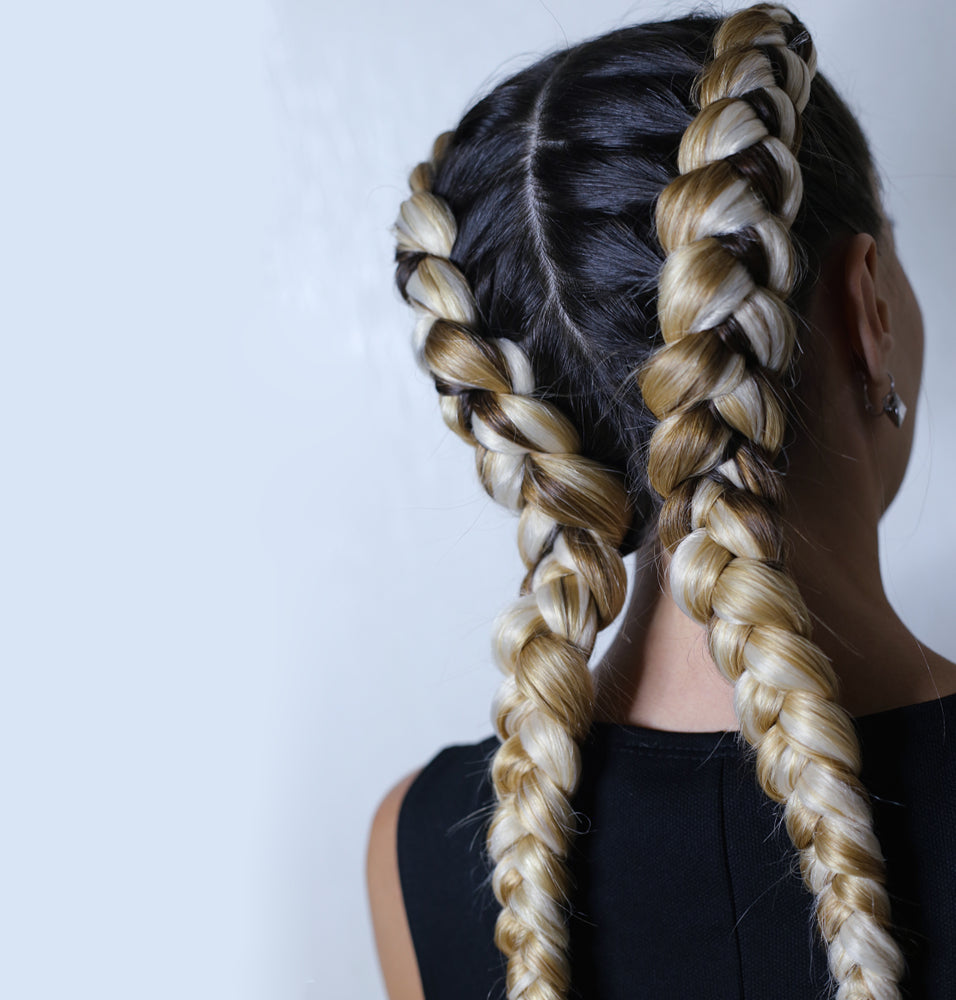 The double-Dutch braided hairstyle