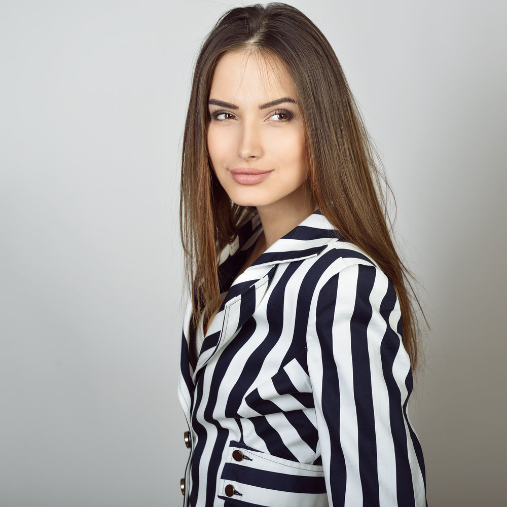 Woman in a Stripe Jacket