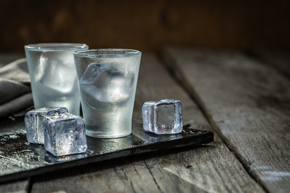 Shotglasses and Ice Cubes