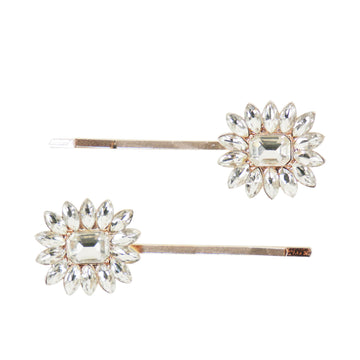 Crystal Hair Pin set Rose Gold