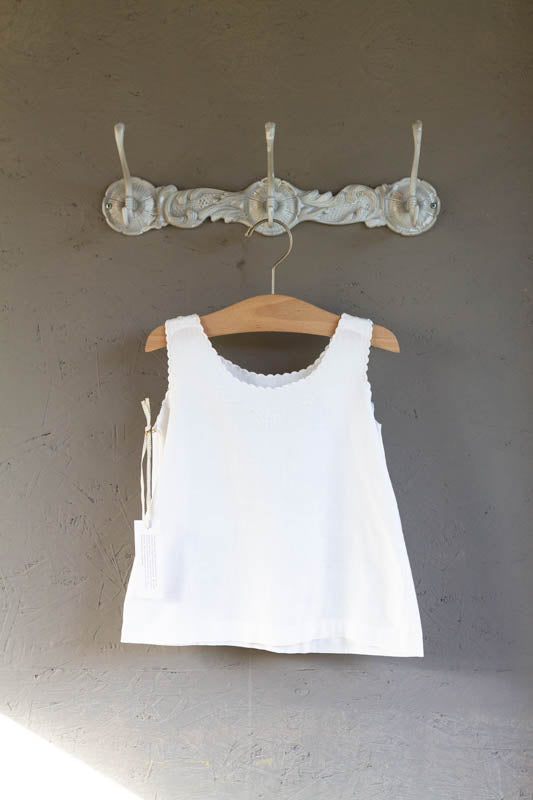 Blanc Embroidered Tank