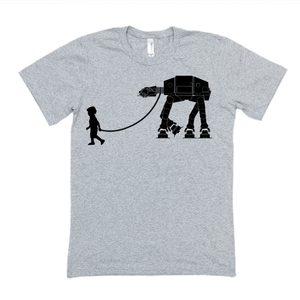 Boy Walking AT-AT | Star Wars SVG DXF EPS PNG Cut File | Cricut and Silhouette Machines