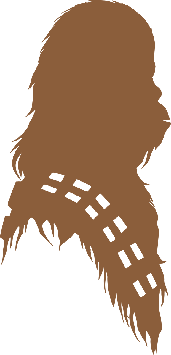 Chewbacca Silhouette Star Wars Svg Dxf Eps Png Cut File