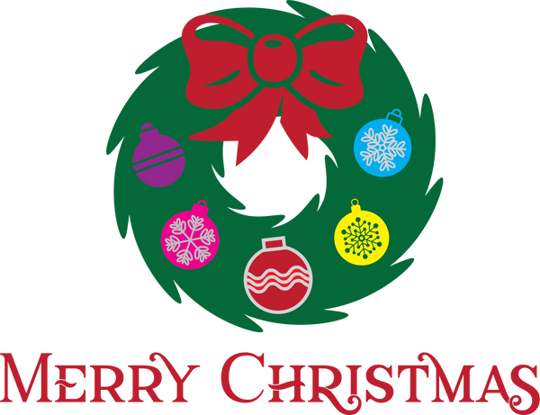Christmas Wreath | Christmas SVG DXF EPS PNG Cut File | Cricut and Silhouette Machines