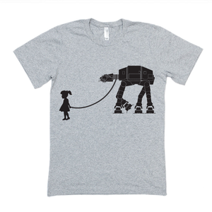 Girl Walking AT-AT | Star Wars SVG DXF EPS PNG Cut File | Cricut and Silhouette Machines