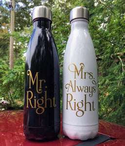Bride and Groom S'well Bottles - Wedding, Couple, Engagement, Wedding Present,  Swell Bottle