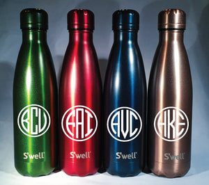 New Gem Collections Monogram S'well Bottles
