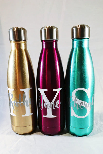 Personalized S'well Bottle - Big Initial and Name