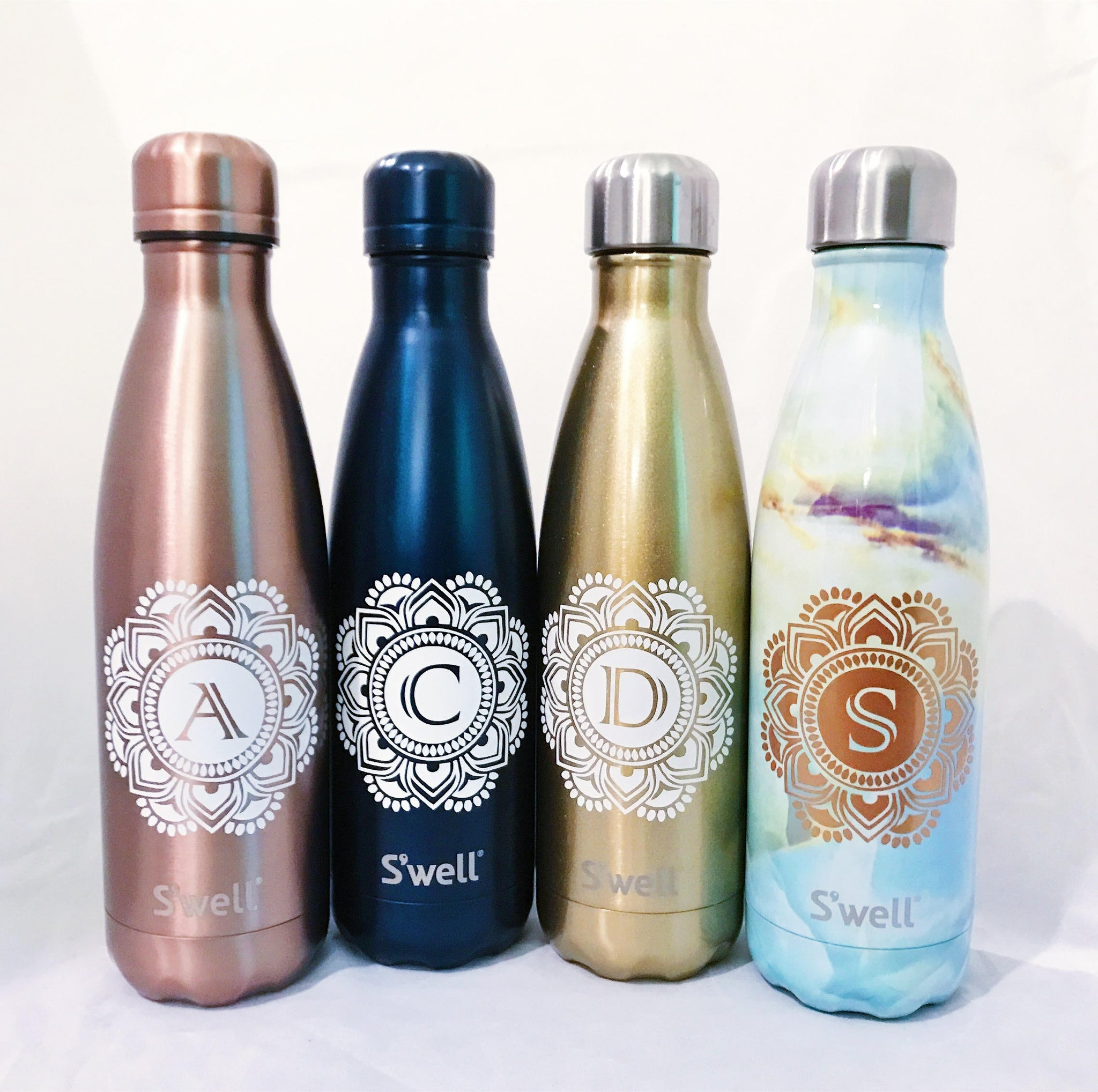 Mandala Initial S'well Bottle