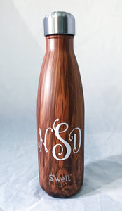 Monogram S'well Bottle  S'well bottle, swell bottle, Mom S'well