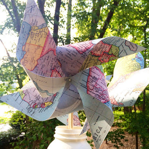 Custom Map Pinwheels