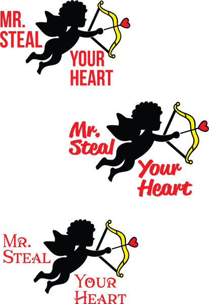 Mr Steal Your Heart | Valentine SVG DXF EPS PNG Cut File | Cricut and Silhouette Machines