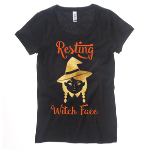 Resting WITCH Face SVG DXF EPS PNG Cut File | Cricut and Silhouette Machines