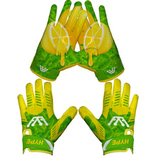 Lemon Drip Football Gloves