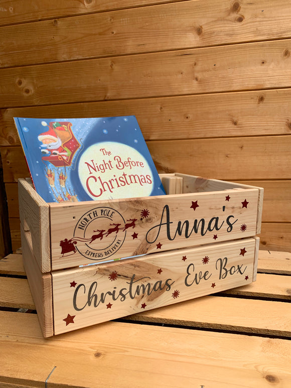 Personalised Christmas Eve Crate / Box