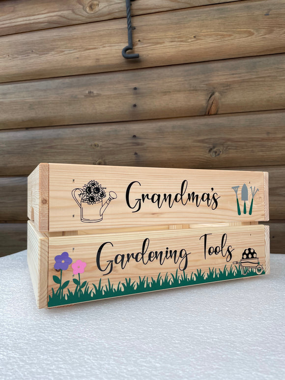 Personalised Gardening Crate