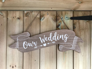 SALE! Our Wedding Sign