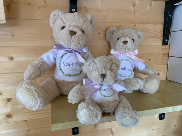 Personalised Cream Teddy Bear