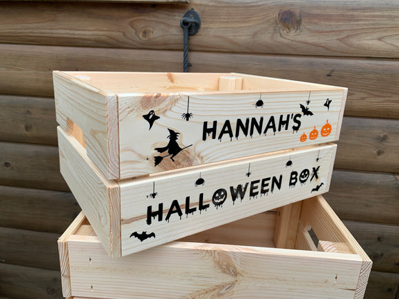 Personalised Halloween Crate / Box
